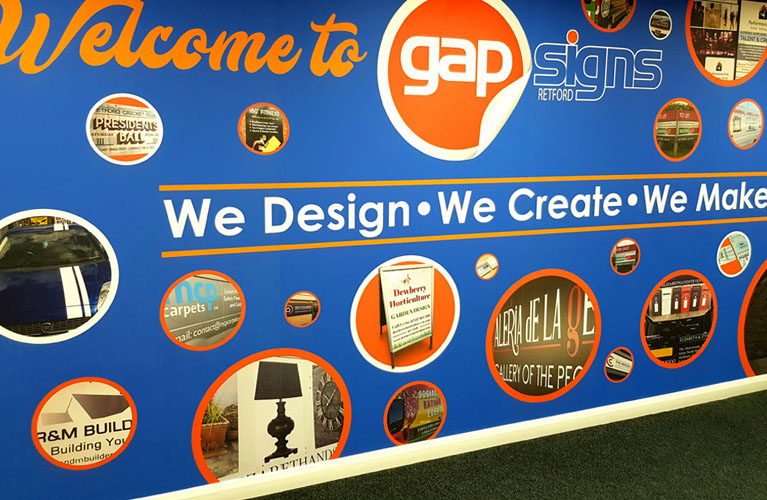 Feature Walls by Gap Signs Retford